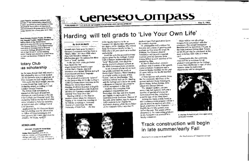 Harding will tell grads to 'live your own life'.pdf