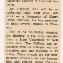 Dr. Walter Harding Receives Fellowship.png