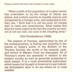 Thoreau Society of America. Bulletin.