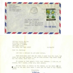 William Kelley writes to Walter Harding, 1970