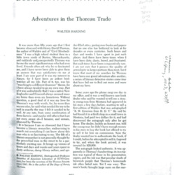 Adventures in the Thoreau Trade